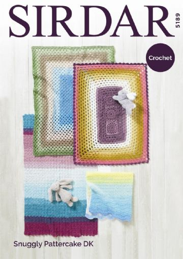 Sirdar Crochet Pattern 5189 ,4 Blanket Patterns in DK